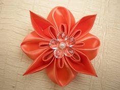 Объемный цветок в стиле Канзаши. Видео -мастер класс. / DIY Flowers - YouTube