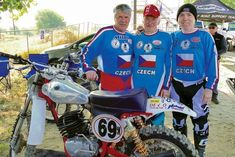 Czech motorcycle team at the race event