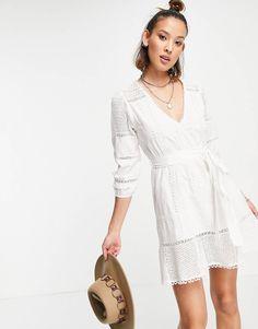 White Romper Dress, Cream Style, White Shop, Cotton Lace, Lace Trim, Asos, Cold Shoulder Dress, Rompers, Mini