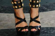 Studded ankle strap. MIU MIU