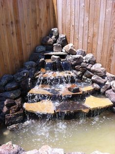 Backyard Waterfalls Design Ideas, Pictures, Remodel, and Decor - page 13 Diy Waterfall, Waterfall Design, Garden Waterfall, Backyard Water Feature, Ponds Backyard, Backyard Waterfalls, Outdoor Water Features, Water Features In The Garden, Pond Landscaping