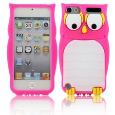 Really Cute iPod Touch Cases | Owl Cute 3D Animal Silicone Back Case Cover Skin For Apple ipod touch ...