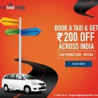 Mytaxiindia Rs 200 OFF on All Your Taxi Booking : Mytaxiindia Christmas Sale Offer - Best Online Offer