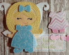 NEW Felt Girl Doll Toddler Dress Up Six by NettiesNeedlesToo