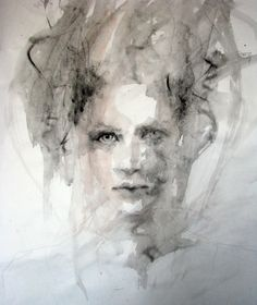 """Saatchi Online Artist: Fiona Maclean; Acrylic, 2011, Painting """"Study of Girl with bird in hair"""""""