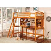 Found it at Wayfair - Dorena Twin Low Loft Bed with Desk and Bookshelves