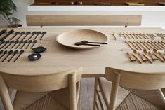 A fantastic collection of wooden cutlery. Tomii Takashi : Mjolk Exhibition