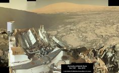 Curiosity explores Red Planet paradise at Namib Dune during Christmas 2015 - backdropped by Mount Sharp.  Curiosity took first ever self-portrait with Mastcam color camera after arriving at the lee face of Namib Dune.  This photo mosaic shows a portion of the full self portrait and is stitched from Mastcam color camera raw images taken on Sol 1197, Dec. 19, 2015.  Credit: NASA/JPL/MSSS/Ken Kremer/kenkremer.com/Marco Di Lorenzo