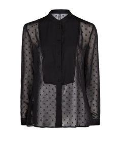 MANGO - CLOTHING - Tops - 46 - Plumeti chiffon blouse
