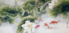 Chinese Watercolor Paintings | Chinese painting by Lou Dahua.