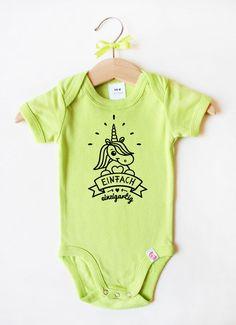 """Baby Body """"Einfach einzigartig"""" grün"""