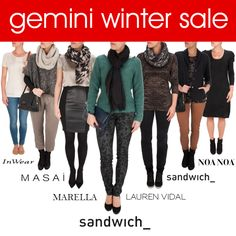What better way to start the New Year than with a new wardrobe? And EVEN better - we currently have up to 50% off in our Winter sale! To shop brands such as Sandwich, Masai, Great Plains, Marella, Lauren Vidal and Noa Noa, head to http://www.gemini-woman.co.uk/sale