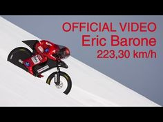 (OFFICIAL) Eric Barone - 223,30 km/h - World mountain bike speed record - Vars Speed Challenge 2015 - YouTube