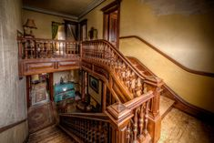1875 Second Empire - Gardner, MA - Old House Dreams Abandoned Mansion For Sale, Abandoned Mansions, Abandoned Houses, Old Houses, Haunted Mansion, Abandoned Places, Haunted Dollhouse, Haunted Houses For Sale, Victorian Houses For Sale