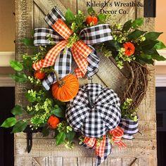 Halloween Wreath Fall Wreath Autumn Wreath Wreath for Front image 4 Thanksgiving Wreaths, Autumn Wreaths, Holiday Wreaths, Wreath Fall, Thanksgiving 2020, Grapevine Wreath, Burlap Wreath, Rustic Fall Decor, Fall Home Decor
