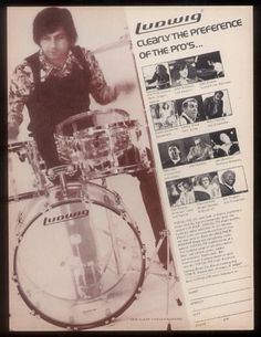 Ludwig vintage ad, early 1970s.