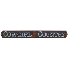 Open Road Brands Cowgirl Country Embossed Tin Sign | Shop Hobby Lobby