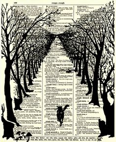 Dictionary Print The Cat That Walked By by reimaginationprints, $10.00