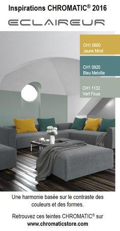 Une harmonie basée sur le contraste des couleurs et des formes. www.chromaticstore.com