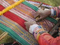 textile weaving in cuzco, peru.  Can't wait, I think we're going to do a weaving workshop.