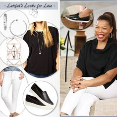 queen latifah in white clothes - If you are interested in creating a look like this visit our website weekly for gently used fashions at www.occasionallyblackandwhite.com