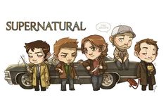 SPN [commission] by ~JoannaJohnen on deviantART. Crowley with the invisible hellhound is probably my favorite part!