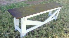 Rustic bench DIY