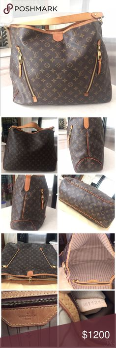 Aut Delightful GM Monogram Louis Vuitton Sh Purse Date Code MI1121 Made in France December 2011. The bag interior and pocket is clean also no offensive odor. The exterior in good condition the Vachetta turned into brown honey color. Shoulder straps has patch from watermark unnoticeable. Stitching and hardware are perfectly position no loose threads no pipings. Bottom also in great condition no stains or markings. This iconic purse is discontinued and now collectibles. Comes with dust bag…