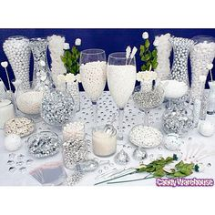 White/Silver Candy Buffets