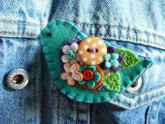 Felt Brooch by gretchent on Etsy, 12.00 USD