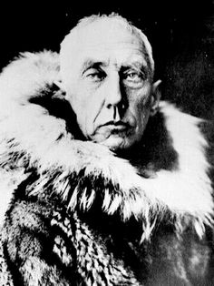 "Roald Amundsen was the first person to reach the South Pole. At approximately 3pm on December 14 1911 Amundsen raised the flag of Norway at the South Pole and named the spot Polheim - ""Pole Home"". (circa1912)"
