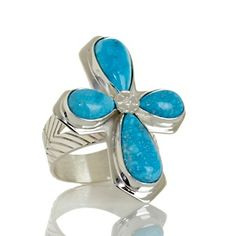 """Jay King Turquoise """"Cross"""" Sterling Silver Ring at HSN.com"""
