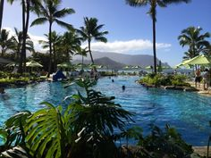 Princeville Kauai Restaurants | Pool at St Regis Princeville Resort at Hanalei Bay Kauai (Jennifer ...
