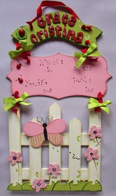 Letrero en mdf para puerta de hospital #Panamá Facebook Crafts by Iris  @craftsbyiris