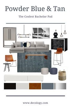 Stylish Family Gathering- Our interior designers have put together the coolest bachelor pad which wo Brown And Cream Living Room, Living Room Grey, Living Room Sofa, Living Room Decor, Living Room Color Schemes, Living Room Designs, Bachelor Pad Decor, Unique Sofas, Interior Rugs