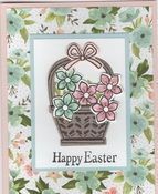 15- Basket Bunch Flower, Stamp, SU, Stampin Up Basket Bunch, Unknown text, Easter card