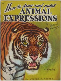 How to draw and paint animal expressions.