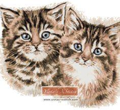 Kittens cross stitch kit | Yiotas XStitch