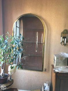 Porte de vitrine laiton vitrée