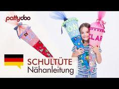 Schultüte aus Stoff mit Applikationen nähen - Tutorial & Freebie by pattydoo