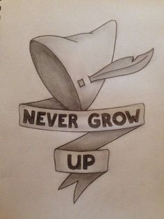 Peter pan never grow up