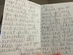 Thank you letter from a woman living with heart disease who received a HeartScarf from WomenHeart Champion Mary Steele.