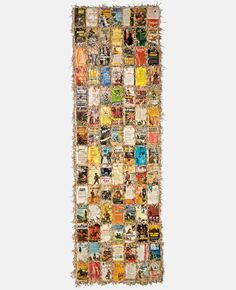 Shroud  Book covers, mull, shredded pages, PVA glue, thread,110 x 38 x 1.5 inches, 2009