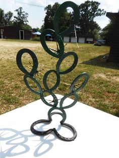 Handmade Horse Shoe Cactus-Made from used Horse Shoes So Cool and Unique