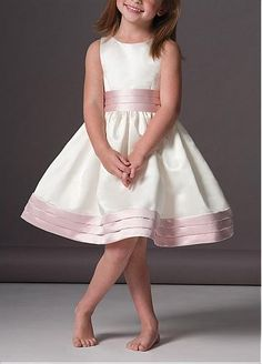 Lovely Satin Ball Gown Flower Girls Dresses