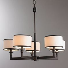 Soft Contemporary Chandelier - 5-Light