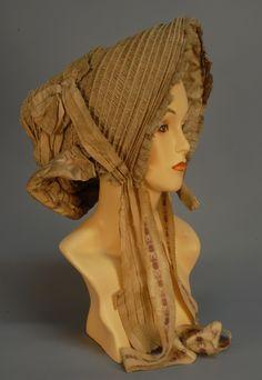 Silk Drawn Bonnet, c. 1810