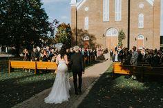 Church stairs wedding ceremony; autumn wedding in Ottawa, Canada; PHOTOGRAPHY Joel + Justyna Bedford;