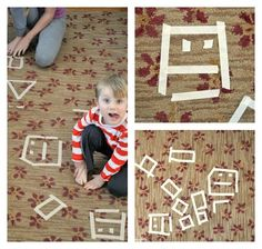 Drawing with masking tape. Families Gloucestershire  http://www.familiesonline.co.uk/LOCATIONS/Gloucestershire#.UutlEvl_uuI