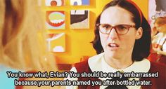 Go drink a bottle of yourself, Evian!!